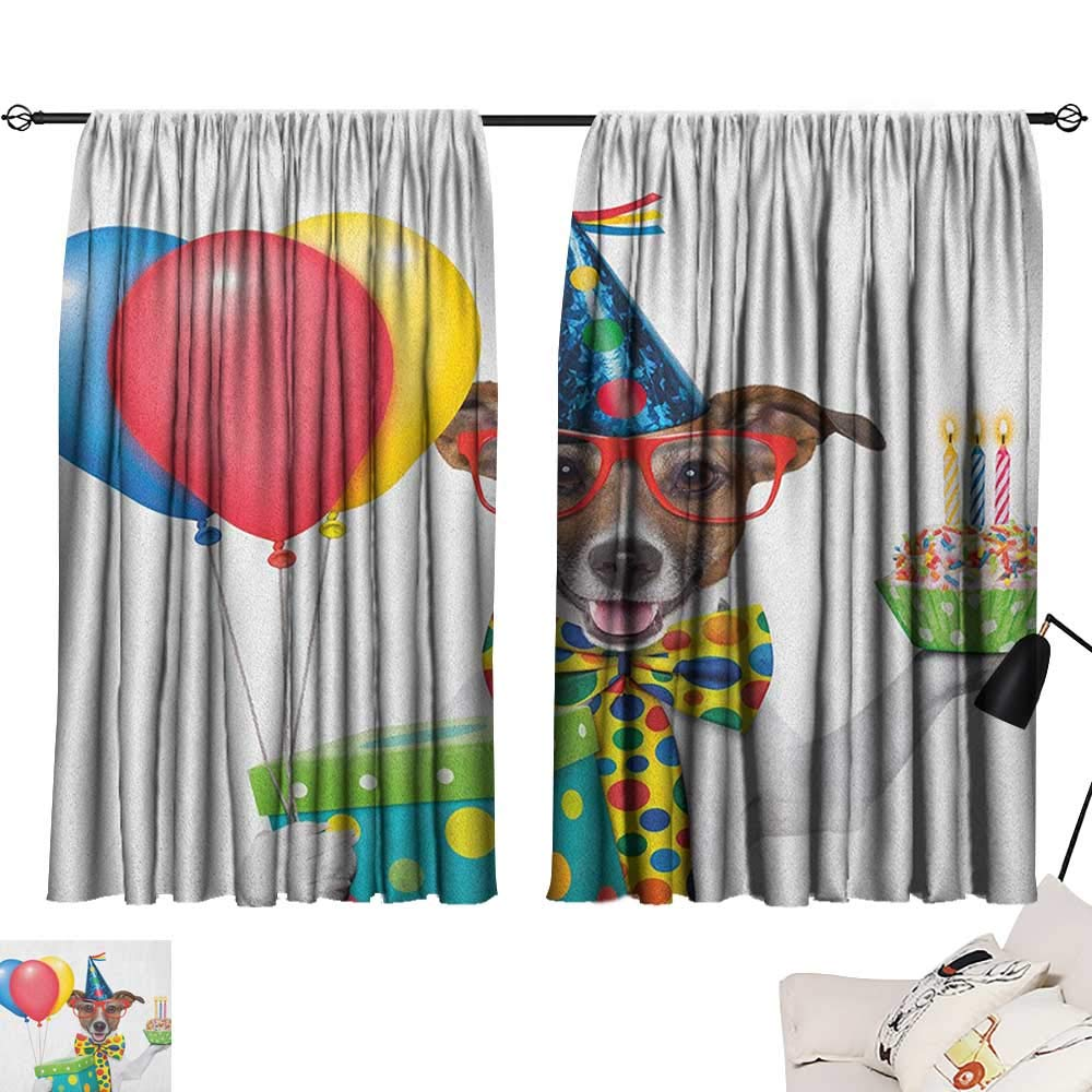 Pattern03 W96  x L72  Michaeal Kids Car Race Track Roadway Activity top Darkening Curtains Cartoon Design Summer City Amusement Park and Lake Curtain for Living Room Multicolor W63 x L45