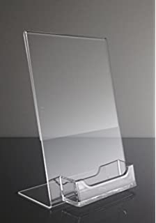 10 Pack Of Tu0027z Tagz Brand Acrylic 5x7 Sign Holder With Business Card Holder
