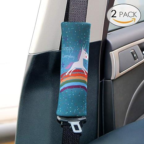 Sundell 2 Pcs Licorne Voiture Ceinture - Auto Sécurité Confort Pads Coussin  Oreiller Coussinets Voyage Protège 1beec80b644