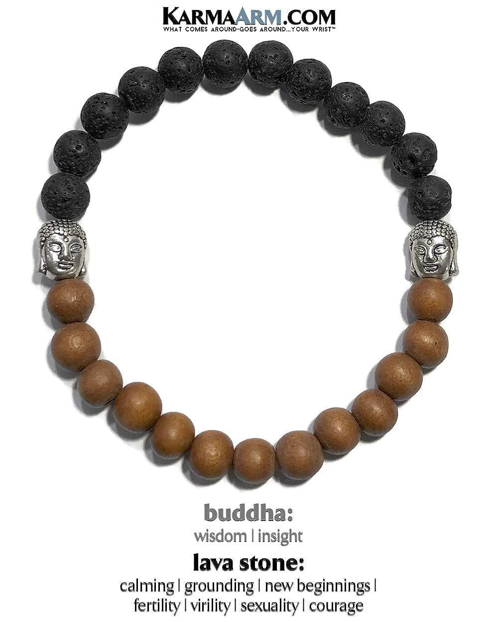 Buddha New Direction: Lava Stone Reiki Healing Energy Boho Zen Meditation Buddhist Jewelry Yoga Chakra Bracelets KarmaArm Buddhist Bracelet
