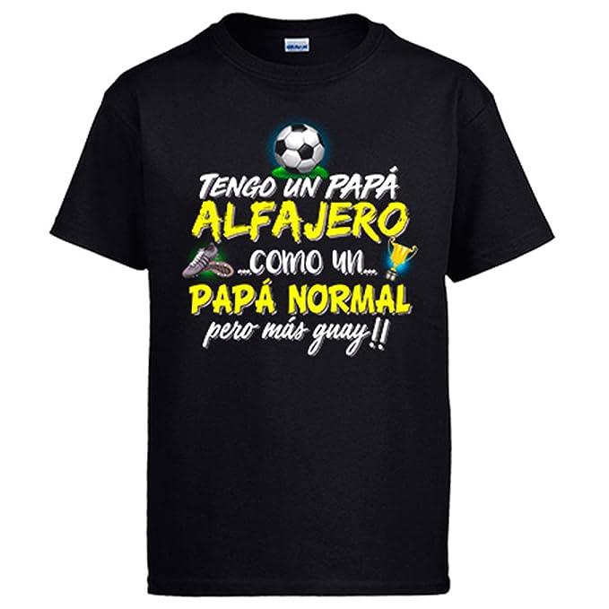 Diver Camisetas Camiseta Tengo Un Papá alfajero Como Un Papá Normal Pero Más Guay - Negro