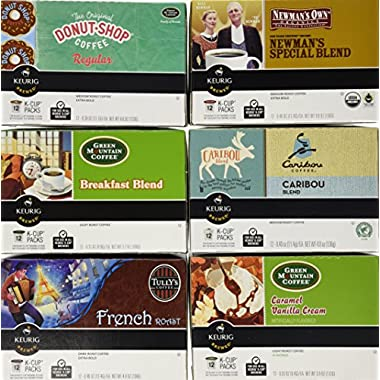 Keurig Single-Serve K-Cup Pods, Variety Pack, 72 Count (6 Boxes of 12 Pods)