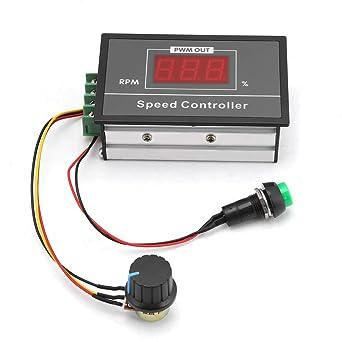 DC 6-60V 12V 24V 36V 48V 30A PWM DC Motor Speed Controller (PWM) Speed  Adjustable Stepless Governor Regulator, Motor Speed Controller with Start  Stop