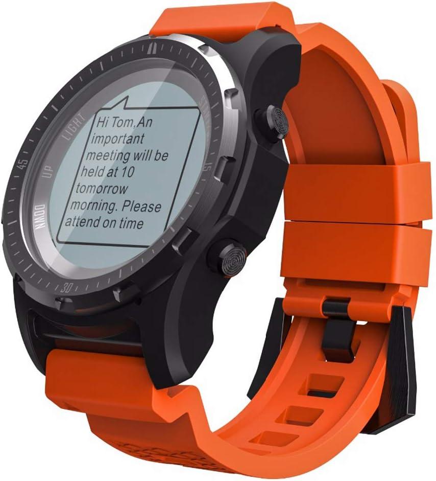 LQQZZZ Relojes Deportivos GPS, Relojes Al Aire Libre Multifunción Soporte Altímetro Barómetro, Función De Compás De Luz De Fondo LED, Adecuado para Senderismo Y Ocio,Naranja