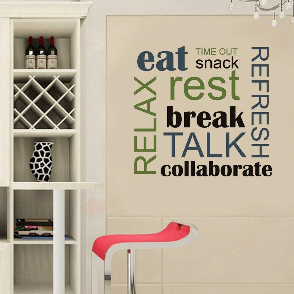 Edvoynlm Break Room Decor Break Room Decals for Walls Eat Relax Wall Decal Break Room Wall Stickers Eat Rest Decal Eat Wall Decal Break Room Decor