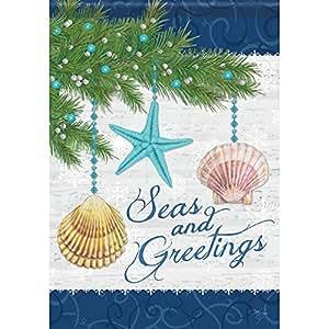Seas & Greetings Garden Flag Designed by Yerkes