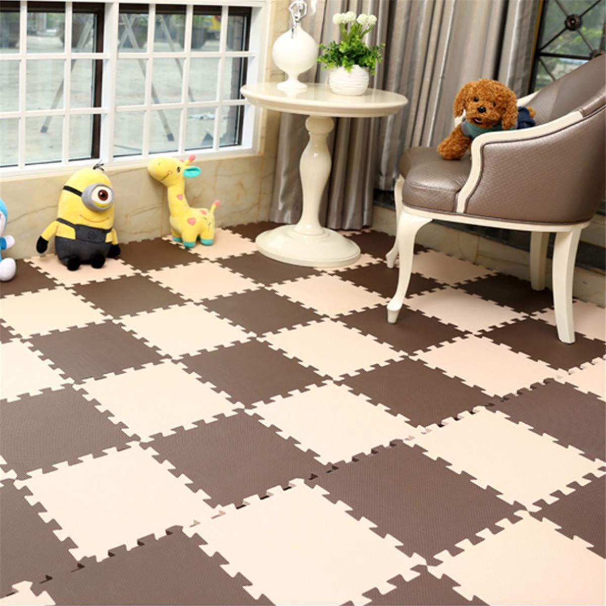 ECYC Baby EVA Schaum Spielen Puzzle Mat für kinder, Starke Bodenmatte Interlocking Übung Fliesen Boden Teppich, Jeder 32X32 cm (Pack von 24 stücke) B07H7Z48BV Spiel- & Krabbeldecken, Spielbögen Maßstab ist der Grundstein, Qualität ist Säule