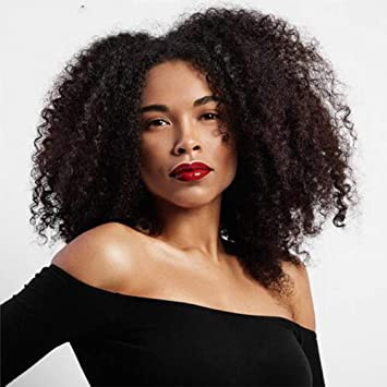 wig Brown Sintético Rizado Pelucas para Mujeres Ombre Corto Afro Peluca Afroamericano Natural 14 Pulgadas Pelo