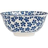 Large Japanese Porcelain Bowl - Choice Of Design ( Blue Nigella )