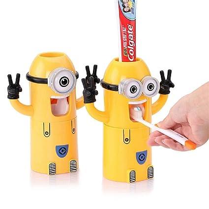 Falove pasta de dientes automático dispensador de baño accesorios Minions dispensador de pasta de dientes niños