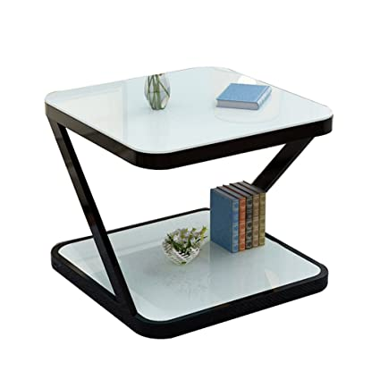 pretty nice 5b4ad 52d45 Amazon.com: Coffee Tables Side Cabinet Bedroom Glass Side ...