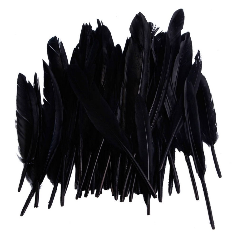 amazon com 50pcs home decor black goose feather arts crafts