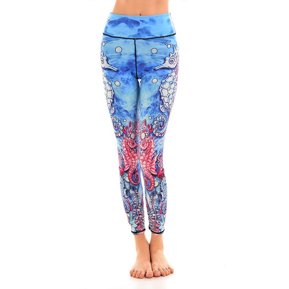 Amazon.com: Fashion Sea World Print Yoga Leggings Dancing ...