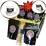 Image of Jamaican Beer Kegs Coffee Gift Basket is great for any occasion. This elegantly presented gift box comes with a 15oz mug, a biscotti cookie, 5 blends of gourmet coffee and includes a BONUS set of 4 soft coasters. Coffee selection inc...