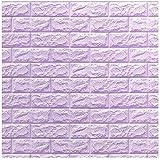 Happytoys 70x77cm PE Foam 3D Wall Stickers Safty Home Decor Wallpaper Sticker,light purple
