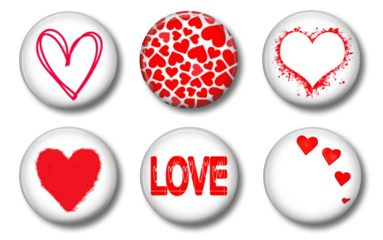 Valentine Heart Magnets - Cute Locker Magnets For Teen Girls - Whiteboard Office or Fridge - Funny Magnet Gift Set (Hearts)