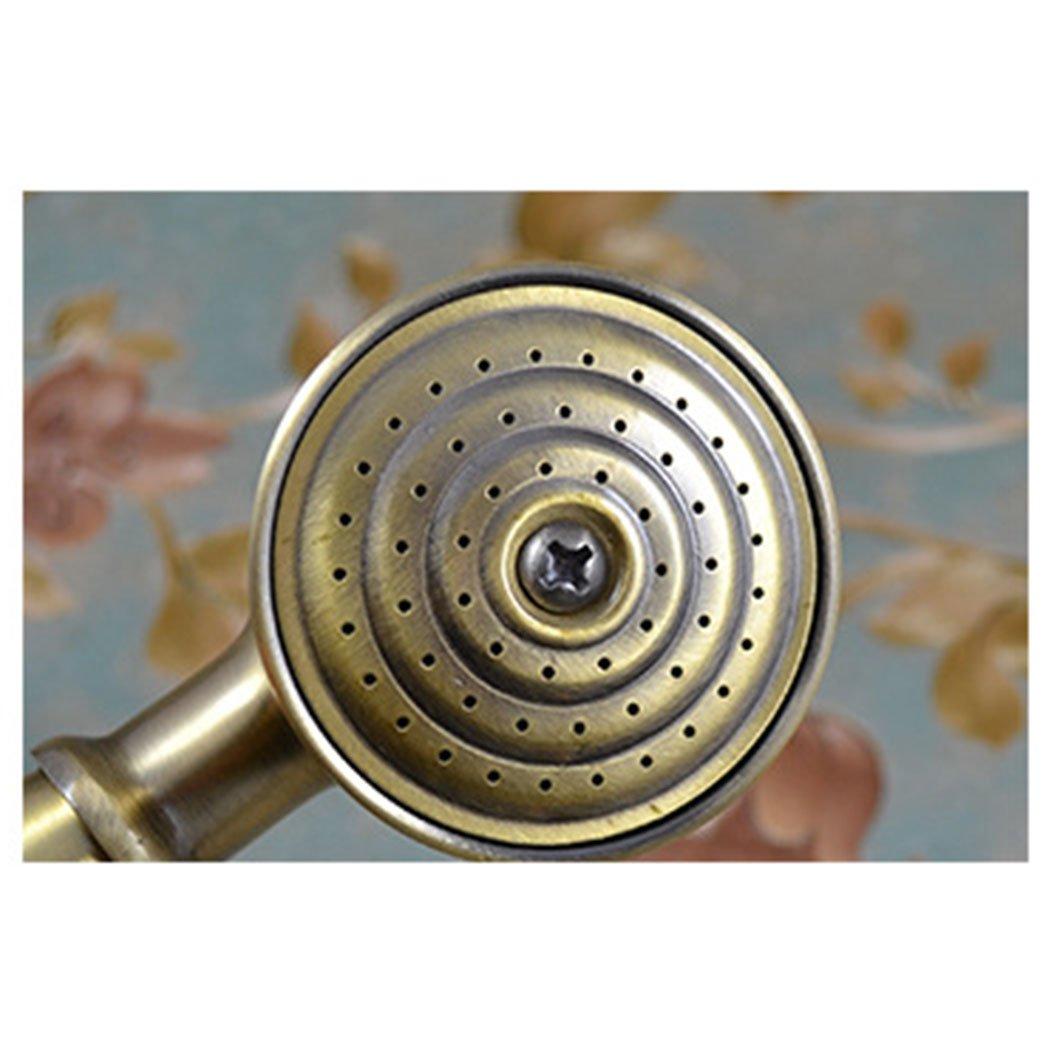 EgoEra/® Traditionnel T/él/éphone Antique R/étro Laiton Pluie Haute Pression Pomme de Douche//T/ête de Douche