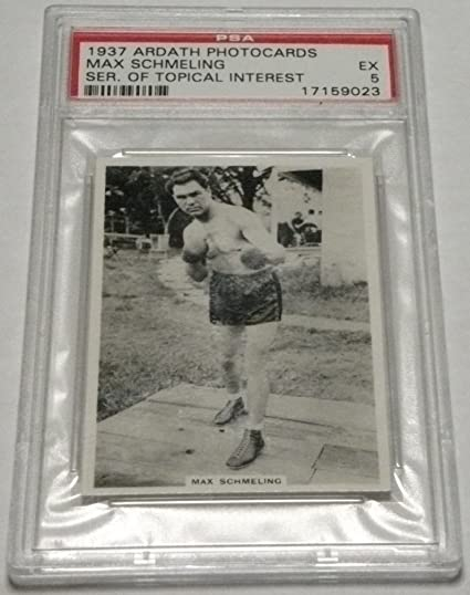 db1ca59f59a Max Schmeling card 1937 at Amazon s Sports Collectibles Store