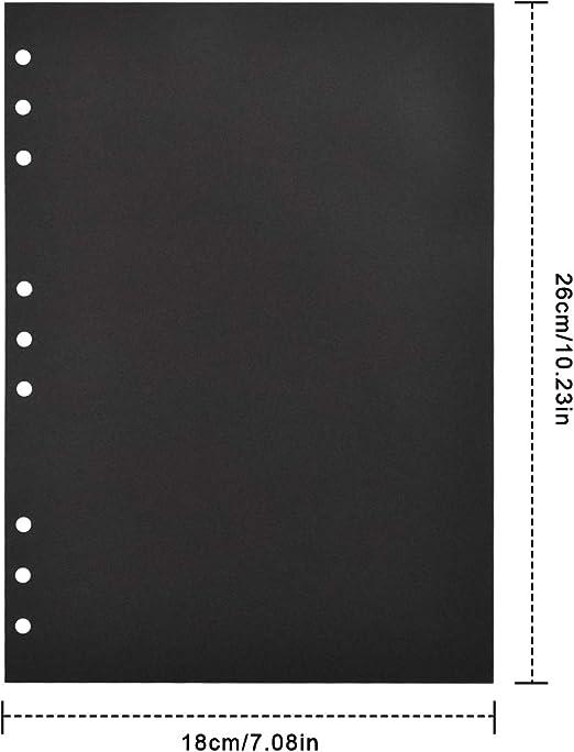 20 pcs P/áginas de Recarga Negro para Recortes /álbum de Foto HQdeal Scrapbooking Papel 26 x 18 cm