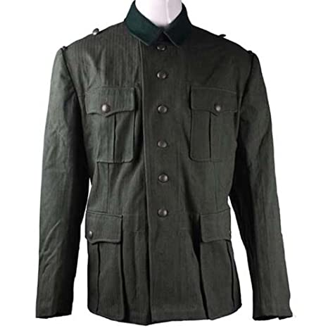 1940s Men's Costumes: WW2, Sailor, Zoot Suits, Gangsters, Detective WW2 M40 HBT Cotton Summer EM Field Tunic $98.74 AT vintagedancer.com