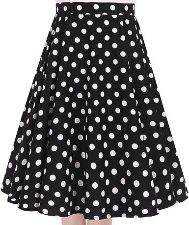 Vintage Retro 50s Full Circle Rockabilly A Line Swing Floral Midi Skirt Dress