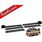 Lemax-Père Noël Cable Car-Ferroviaire-rectiligne-4,5V-Village de Noël