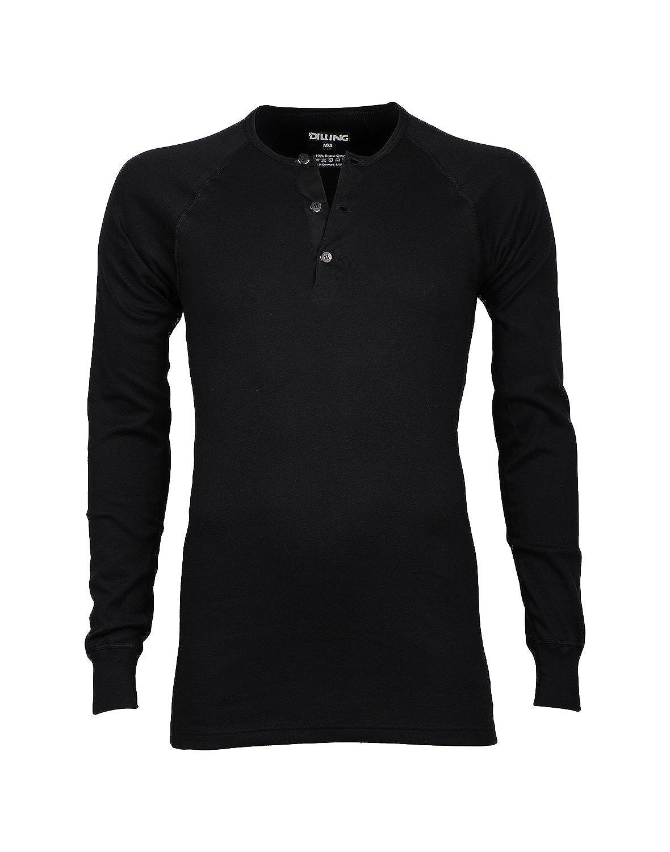 Dilling Langarmshirt mit Knopfleiste für Herren aus 100% BIO-Baumwolle