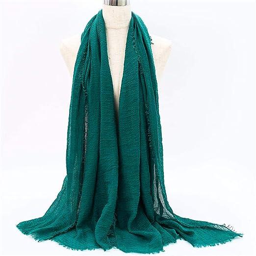 Aimljr_scarf Fulares para Mujer Mujeres Burbuja algodón sólido ...