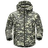 FREE SOLDIER Men's Outdoor Waterproof Soft Shell Hooded...
