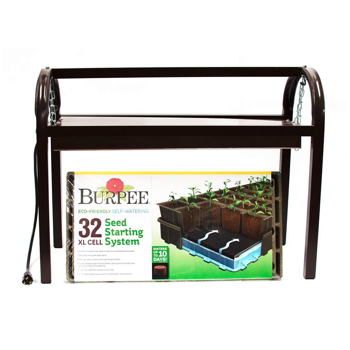 Burpee Exclusive Glow 'n Grow Tabletop Grow Light and Seed Starting Kit by Burpee