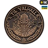 hummer flag - Til Valhall PVC 3D Patch Viking Military & Tactical Army Morale Velcro Hook and Loop Coyote (Coyote)