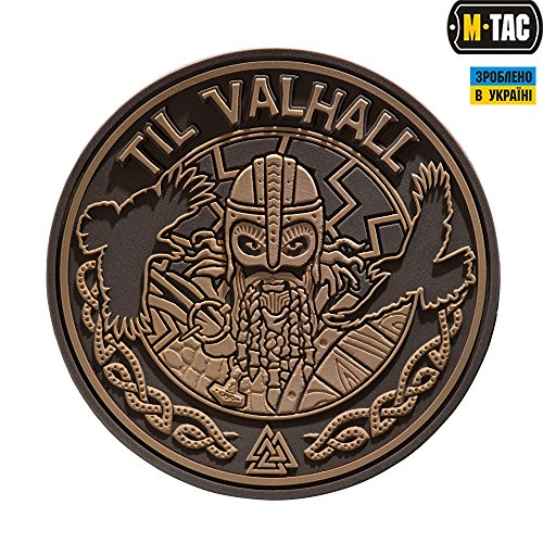 Til Valhall PVC 3D Patch Viking Military & Tactical Army Morale Hook backing (Military Cap Collection)
