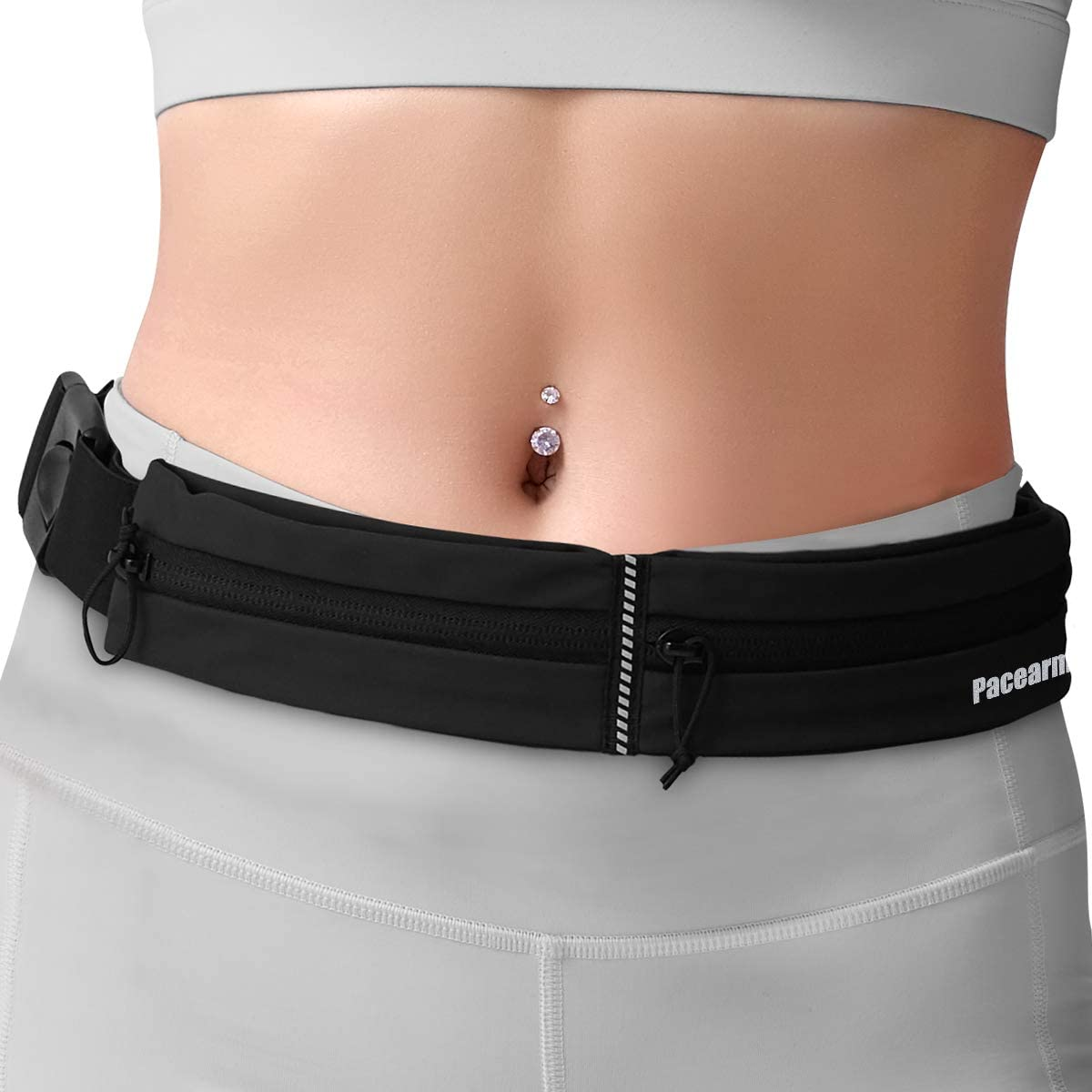 Secure And Reflective Activity Belt For Runners Hikers And Cyclist. Joggers Stretchable