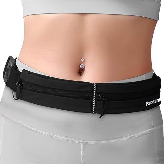 chaokeji Running Belt,Workout Belt Sport Waist Pack Exercise Waist,Bounce Free Runner Pouch with Phone Pocket Headphone Hole for Women Men