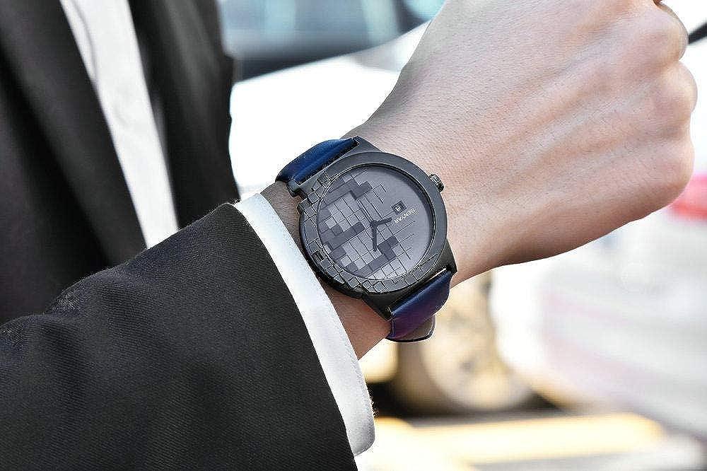 Orologi da polso Orologio Casual Da Uomo Con Design Personalizzato E Cinturino In Pelle Marrone