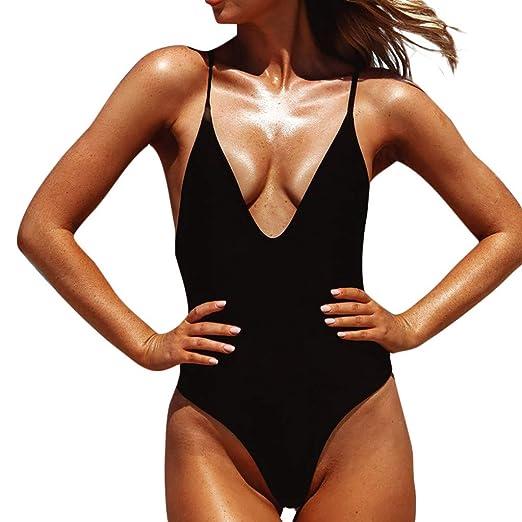 d46e219e8b Amazon.com: Clearance Swimsuits FRana Sexy Bikini for Women One Piece Swimwear  Bathing Suits Bandeau Tankini Beachwear: Clothing