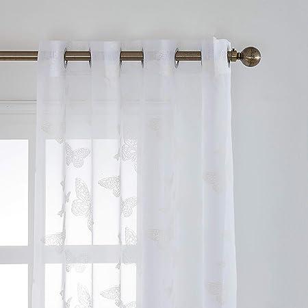 ALTA MATERIAL+++Estos visillos de cortinas Hecho de 100% poliéster, pueden filtrar un parte de luz s