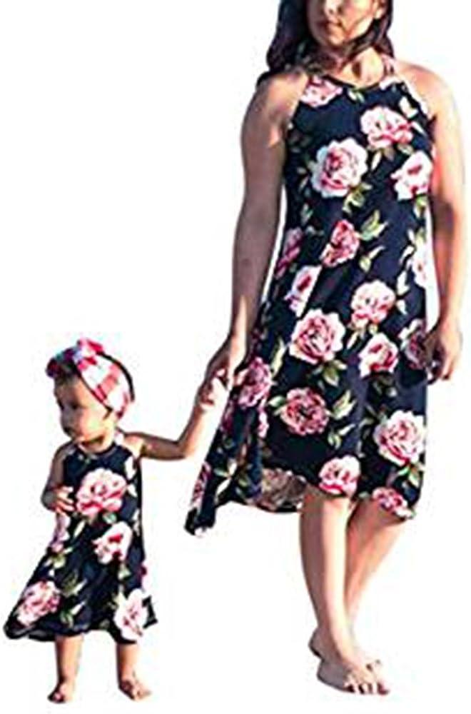 Vestido de bebé Vestido de Madre e Hija sin Mangas Vestido ...