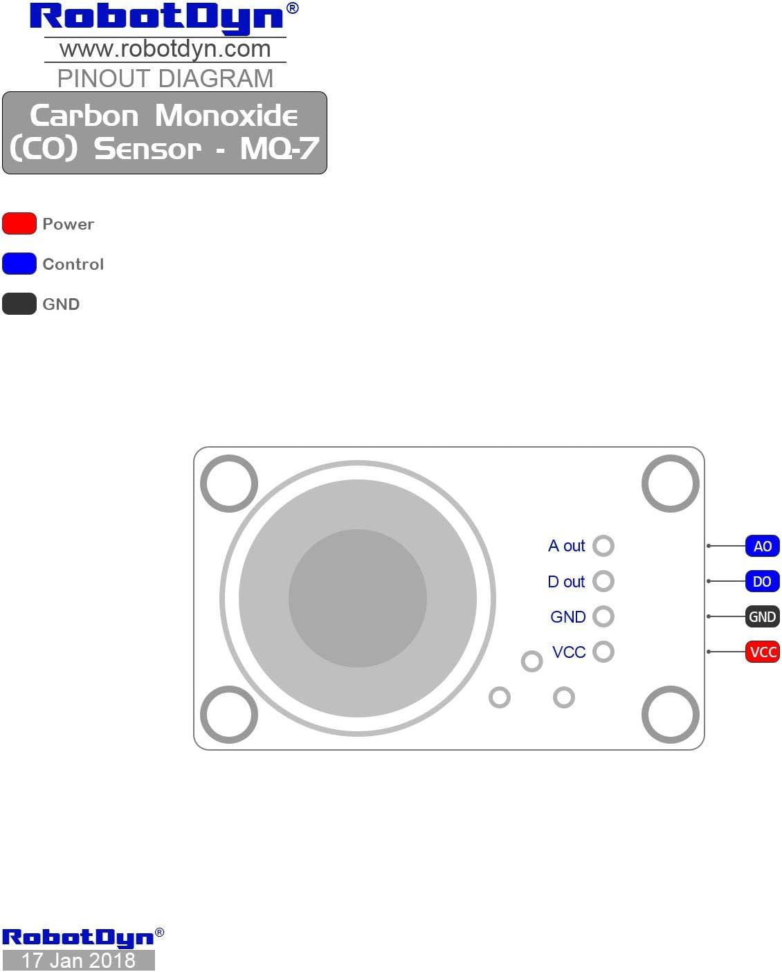 RobotDyn STM32 Analog and Digital Out for DIY Projects Arduino MQ-8 Raspberry pi Hydrogen Gas Sensor