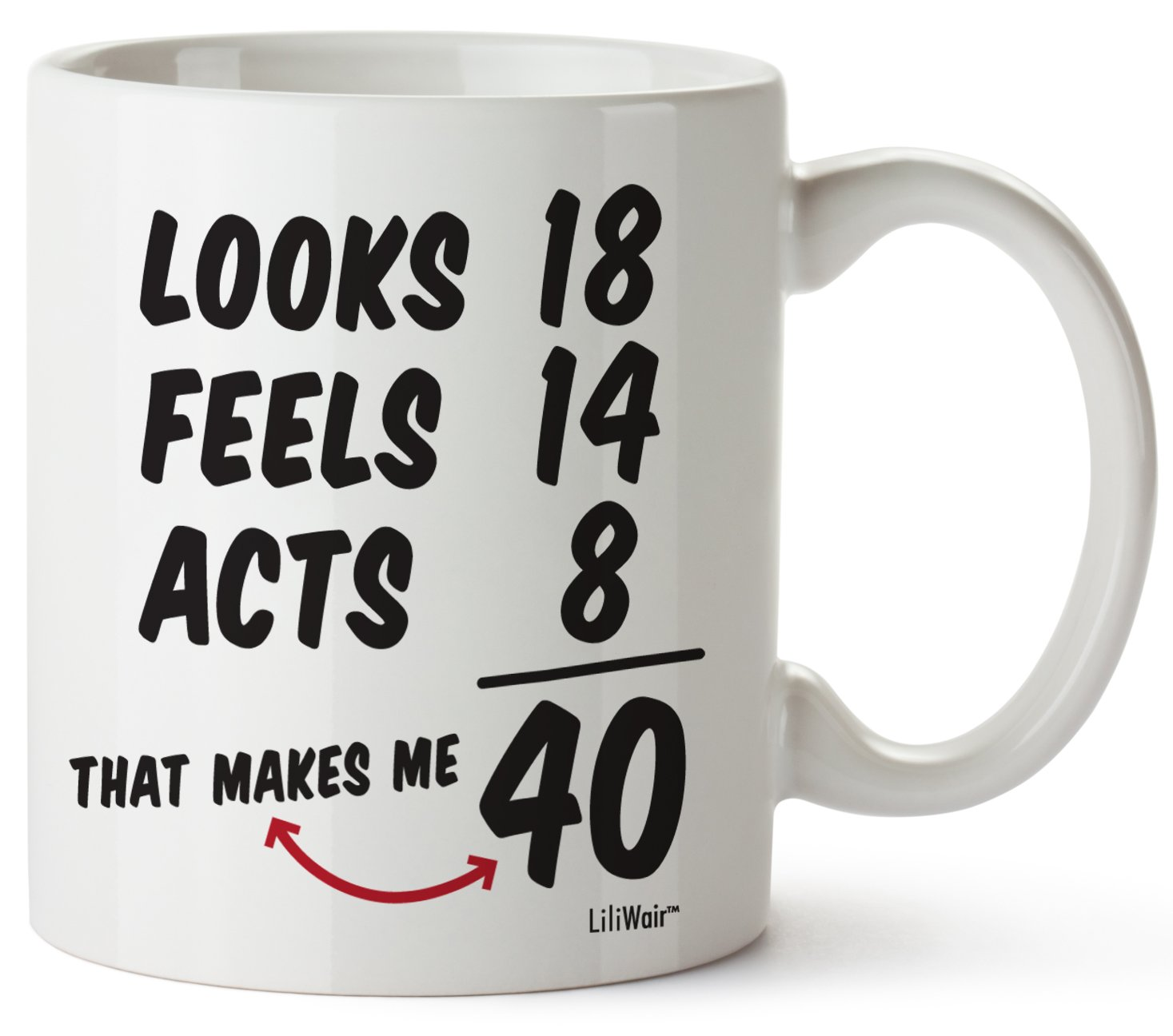 40th Birthday Gifts For Women Forty Years Old Men Gift Mugs Happy Funny 40 Mens Womens Womans Wifes Female Man Best Friend 1979 Male Mug Unique Ideas 79