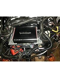 Harley Davidson Kit de cableado y amplificador Monte Fits Batwing Bikes con Aftermarket y radios de Stock para Rockford pbr 300 X 2 & pbr 300 X 4 amperios