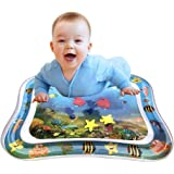 "Inflatable Tummy Time Baby Water Play Mat for Infants Toddlers BPA Free Leakproof Activity Center for Newborns Engaging Fun Summer Cooling Toys for Stimulation Growth 26""x20"""