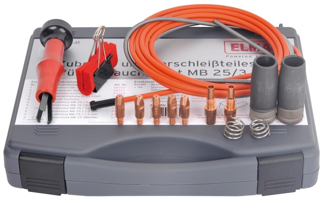 Zubehö r- und Verschleiß teileset fü r Schlauchpaket MB 25/3m/1,0mm, zu Serie EUROMIG 270 u. 300, EUROMIG plus 271, 272 u. 301, ELMAG