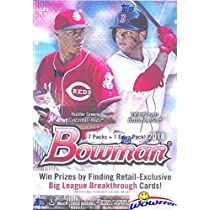 2018 Bowman Mlb Baseball Exclusive Factory Sealed Retail Box With 8 Packs 80 Cards Look For Rookie Cards Autos Of All The Top Mlb Draft Picks