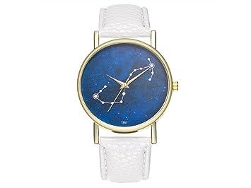 YIIO Exquisito Reloj Scorpio Constellation Zodiac Cuero Clásico Reloj para Mujer: Amazon.es: Salud y cuidado personal