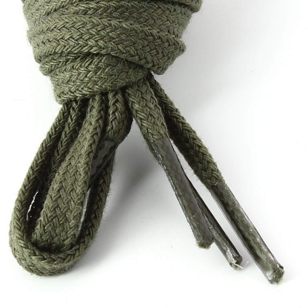 Lacets Plats Coton Couleur Vert Arm/ée Les lacets Fran/çais