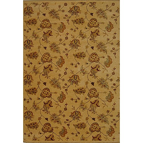 Safavieh Agra Collection AGR370A Hand-Knotted Beige Premium Wool Area Rug (5' x 8' )