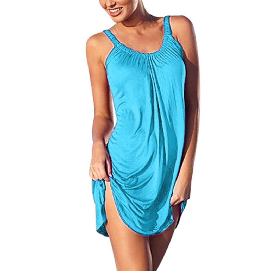 Women Dress,Ankola Women Holiday Vest Dresses Ladies Sleeveless Summer Beach Mini Dress