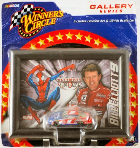2002 - Action / Winner's Circle - Marvel / NASCAR - Gallery Series - Bill Elliott #9 - Dodge / Ultimate Spiderman Framed Art & 1:64 Scale Die Cast Car - MOC - Out of Production - Limited Edition - Collectible