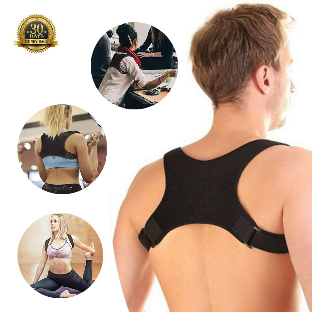 Back Posture Corrector for Women and Men - Posture Corrector Trains Your Back Muscles to Prevent Slouching and Provides Back Pain Relief(OS)